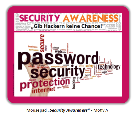 "Mousepad ""Security Awareness"" - Motiv A"