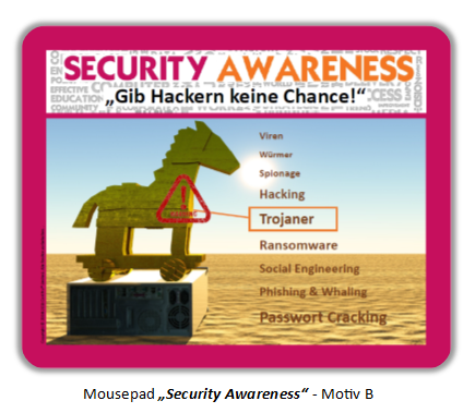"Mousepad ""Security Awareness"" - Motiv B"