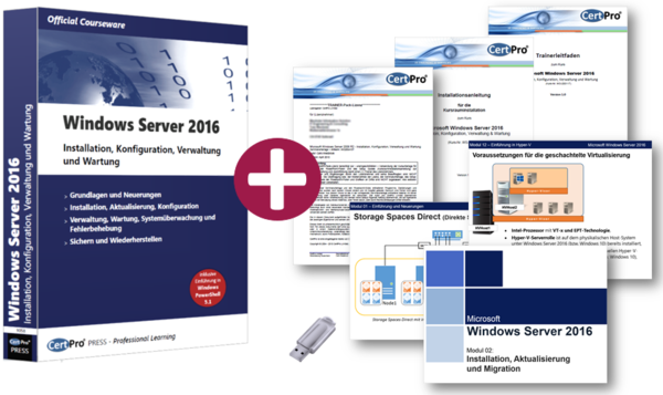Windows Server 2016 - Installation, Konfiguration, Verwaltung und Wartung - TRAINER-Pack